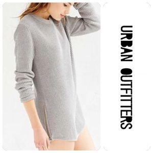 UNIF x UO Waffle-Knit Tunic Sweater